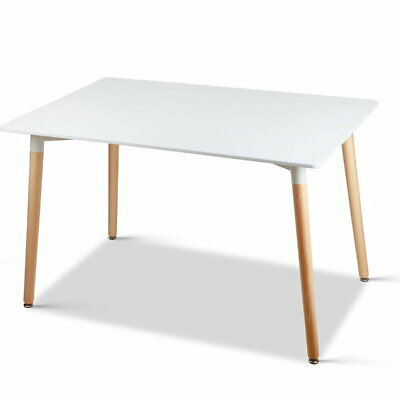 AU211.95 • Buy Artiss Dining Table 6 Seater Replica DSW Eiffel Cafe Kitchen White 120cm