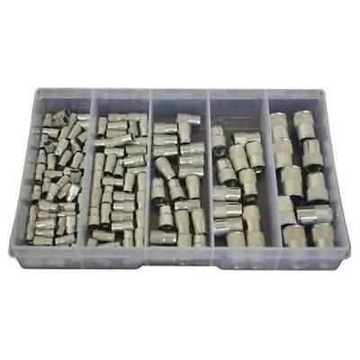 AU32 • Buy Countersunk Splined Nutsert Assortment Kit M4 M5 M6 M8 M10 Zinc Rivnut #180