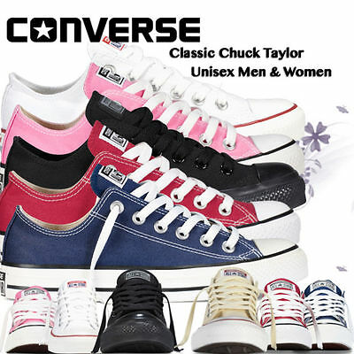 £25.99 • Buy Converse Women  Men Unisex All Star Low Top Chuck Taylor Trainers All Colours