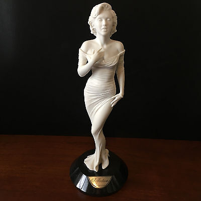 Franklin Mint White Reflections Marilyn Monroe Statue 11  Tall Marble Base NEW • 186.52£
