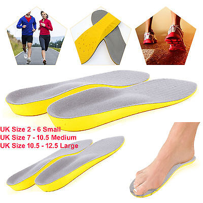 Memory Foam Unisex Orthopaedic Shoe Pads Trainer Foot Feet Comfort Soft Insoles • 3.25£