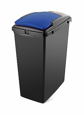 Addis 40L Under Counter Slim Recycling Bin With Blue Lid • 16.50£
