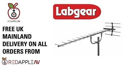 Labgear LABGT20G High Gain Aerial TV Signals In Medium & Weaker Strength Areas • 19.99£