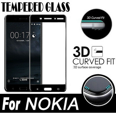 AU4.99 • Buy 9H Full Coverage Tempered Glass Screen Protector For NOKIA 7.2 2.2 1.3 5.1 5.3
