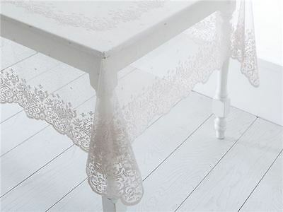 $29.99 • Buy English Home New Lace Elegant Tablecloth Rectangle Beige Perfect Gift NWT
