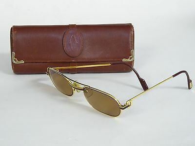 4d305d6af8d VINTAGE CARTIER CARTIER LOUIS VENDOME 140 SUNGLASSES W  CASE • 650.00