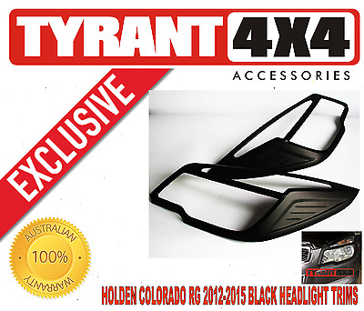 AU75 • Buy #0132016 Holden Colorado RG 2012-2016 Black Headlight Cover Trims Headlamp Z71
