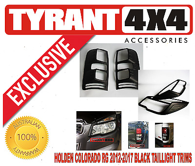 AU150 • Buy Holden Colorado RG 2012-2016 Black Headlight Tail Light Trims Surrounds LTZ Z71