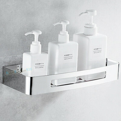 AU46.80 • Buy Stainless Steel Square Shower Caddy Storage Holder Shelf Wall Mounted Bathroom