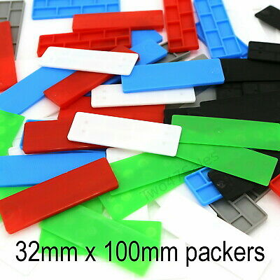 32mm Glazing Packers Floor Glass Shims Window Spacers Flat Plastic Frame UPVC • 2.50£