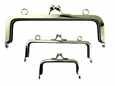 £3.79 • Buy ** SILVER METAL PURSE FRAMES With KISS CLASP And HOLES