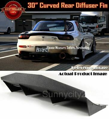 $69.90 • Buy 30  X 12  ABS Black Universal Rear Bumper 4 Fins Curved Diffuser Fin For Chevy
