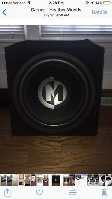 $200 • Buy 15 Inch Memphis Subwoofer With 300 W Kicker Amp