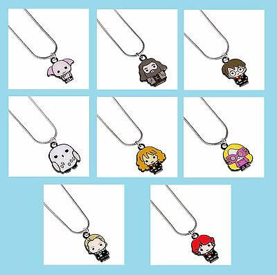 Official Harry Potter Jewellery Cutie Character Enamel Charm Pendant Necklace • 9.99£