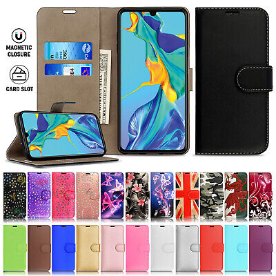 For Huawei P30 Lite P20 Mate 20 Pro Luxury Leather Wallet Flip Phone Case Cover • 2.99£