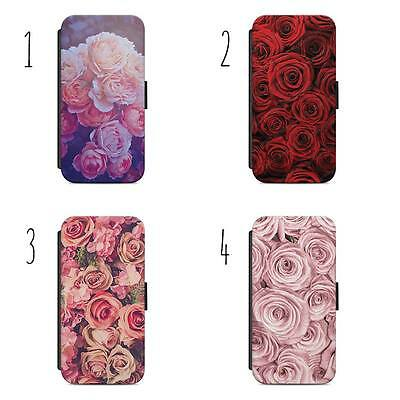£9.36 • Buy Roses Flowers Designs Flip Wallet Phone Case Cover All IPhone & Samsung