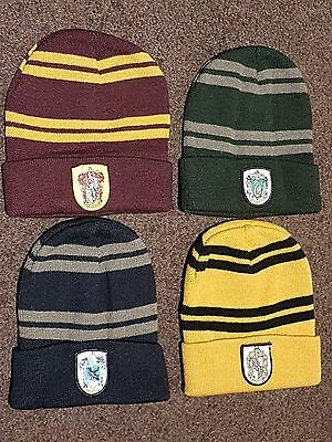 AU12.99 • Buy Harry Potter Beanie Hat Gryffindor Hufflepuff Ravenclaw Slytherin Adult Kids