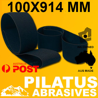 AU44.95 • Buy PACK OF 6 - 100x914 SANDING BELT - SILICON CARBIDE - LINISHING METAL WOOD