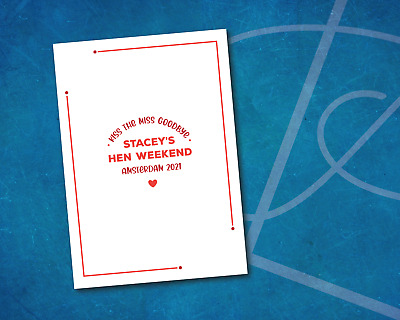 £3.99 • Buy Kiss The Miss Goodbye Print Hen Party Keepsake | Hen Party Games Hen Party A4