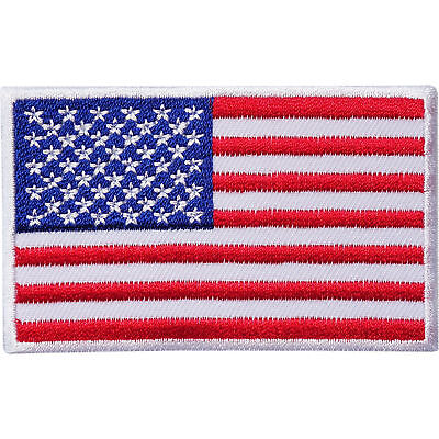 Embroidery Usa United States Of America Flag Iron Sew On Jeans Clothes Patch Uk • 1.95£