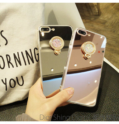 AU7.02 • Buy Hot Luxury Bling Diamond Mirror Phone Case Cover With Metal Ring Holder Stand