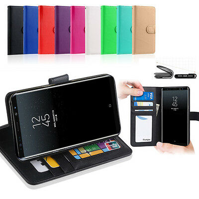 AU7.45 • Buy New Premium Wallet Flip Leather Case Cover - Samsung Galaxy Note 8