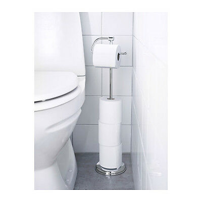 AU63.03 • Buy IKEA BALUNGEN Magnetic Bathroom Toilet Paper Roll Holder Stainless Steel Stand