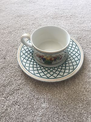 Villeroy & And Boch BASKET Tea Cup And Saucer EXCELLENT • 25£