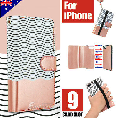 AU12.99 • Buy Apple IPhone X XS MAX XR 8 7 Plus Luxury Wallet Case Flip Leather Magnetic Cover