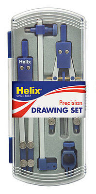 £7.99 • Buy Helix Technical Precision Drawing Set Inc Thumbwheel Compass & Technical A44002