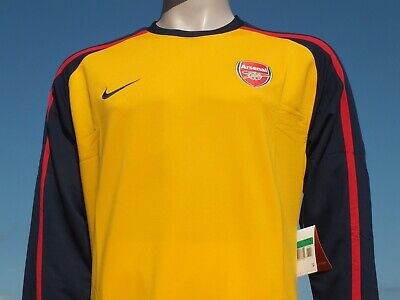 BNWT Arsenal FC 2008-2009 Away Player Issue Unsponsored LS Shirt 44  Chest XL • 64.99£