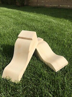 £25 • Buy Wooden Corbels (Shelf Brackets) Solid Pine Style A (1 Pair)