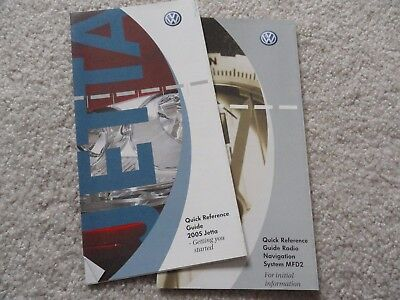$12.95 • Buy 2005 VW Volkswagen Jetta    Quick Reference Guide Owners Manual SUPPLEMENT