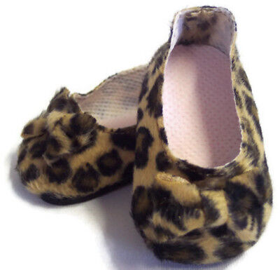 Leopard Print Bow Shoes Made For 18  American Girl Doll Clothes • 3.51£