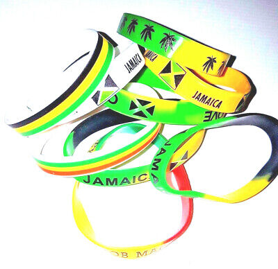 £1.90 • Buy Jamaica/Rasta/Red,Green & Gold Silicone Wristband/Bracelet - Show Your Colours