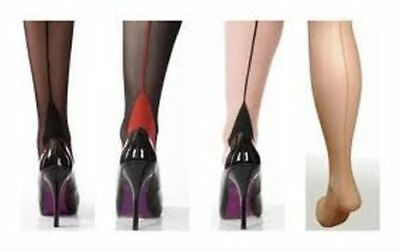 £4.99 • Buy Seamed Tights With Cuban Heel From Scarlet Burlesque Retro 40's 50's Vintage New