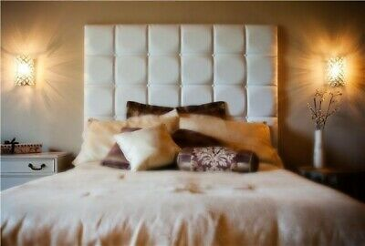 Cambridge Wall Fitted Headboard. All Sizes & Colours Esupasaver Huge Sale • 115£