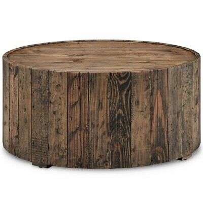 $397 • Buy Magnussen Dakota Round Coffee Table With Casters In Rustic Pine