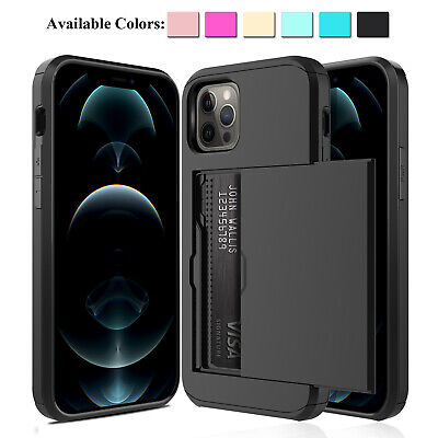 AU7.01 • Buy For IPhone 12 11 Pro Max/XS /XR/X Shockproof Case With Wallet Credit Card Holder