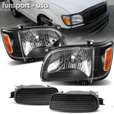 $80.99 • Buy For 2001-2004 Toyota Tacoma Headlights+Corner Signal Lamps+Bumper Light Pair