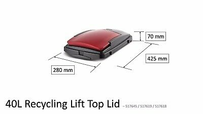 Addis Replacement Bin Lid For 40 Litre Recycling Containers - Red • 7.95£