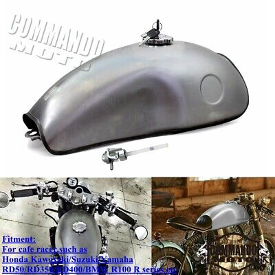 $102.66 • Buy Universal Motorcycle 10L Fuel Tank Vintage 2.6 Gallon Gas Tank For Cafe Racer