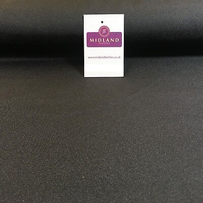£6.99 • Buy Black Plain Polyester Twill Fabric Ideal For Suits, Skirts, Uniform 58  M773