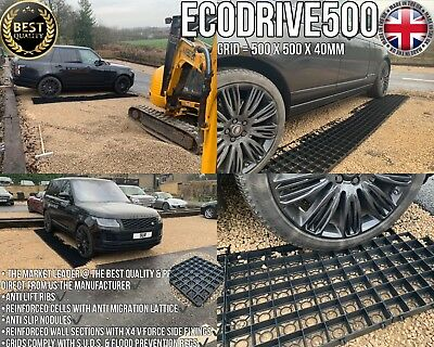 UNBEATABLE PRICED DRIVEWAY GRAVEL GRIDS PERMEABLE GROUND REINFORCEMENT GRIDS Nw • 24.99£