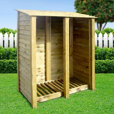 Cottesmore 4ft Slatted Outdoor Wooden Log Store *Clearance Stock*- UK Handmade • 164.99£