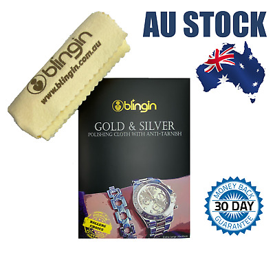 AU12.99 • Buy Large Jewelry Watch Polishing Cloth Jewellery Cleaner For Gold Silver SS 22x32cm