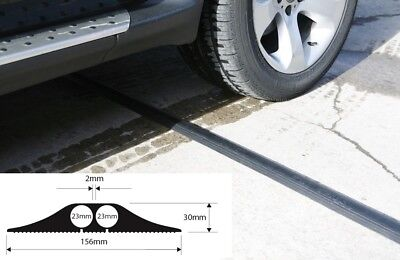 £109.99 • Buy Heavy Duty Black Rubber Floor Cable Wire Cover Protector Safety  Ramp 4.5m FF