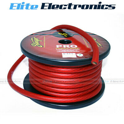AU27.85 • Buy Stinger 1/0 Awg Gauge Pro Series Red Amplifier Power Cable Wire Spw10tr 1 Meter