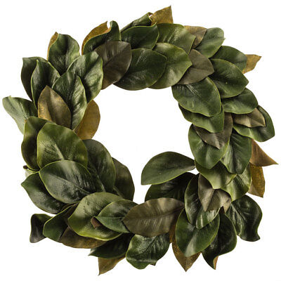 $48.92 • Buy Wreath EVA Polyester Magnolia Leaves Simple Clean Design With Shades Of Green
