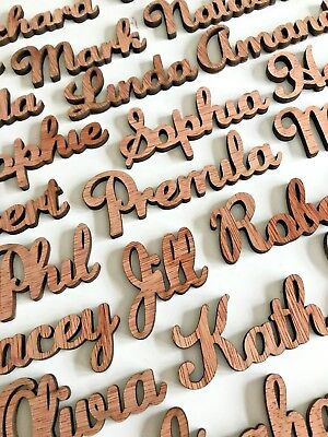 Wooden Wedding Place Name Place Setting Table Names Laser Cut  Favours 40mm Tall • 0.99£